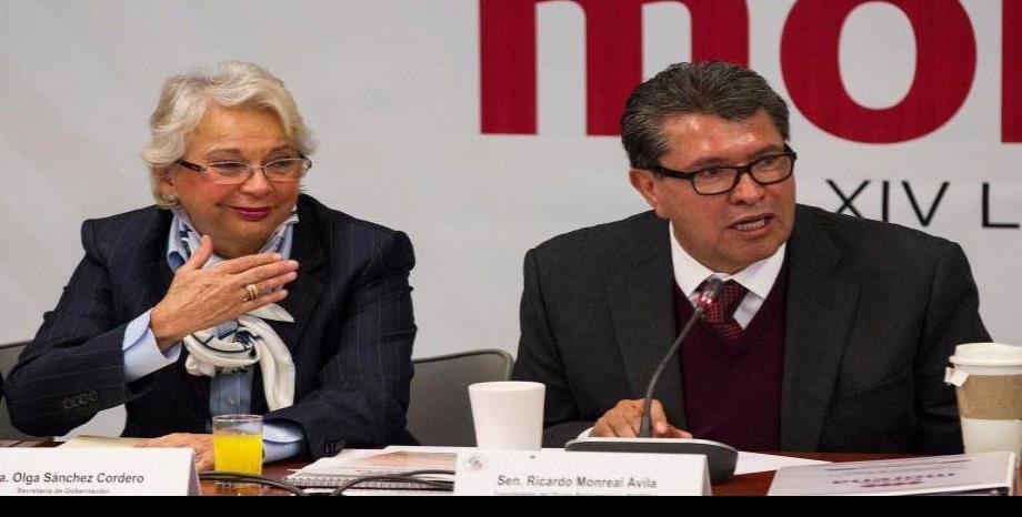 CELEBRA MONREAL ÁVILA INCORPORACIÓN DE SÁNCHEZ CORDERO AL SENADO
