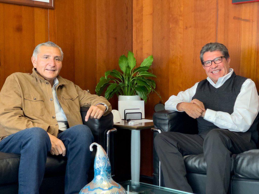 VAN RICARDO MONREAL Y ADÁN AUGUSTO POR SINERGIAS VINCULATORIAS