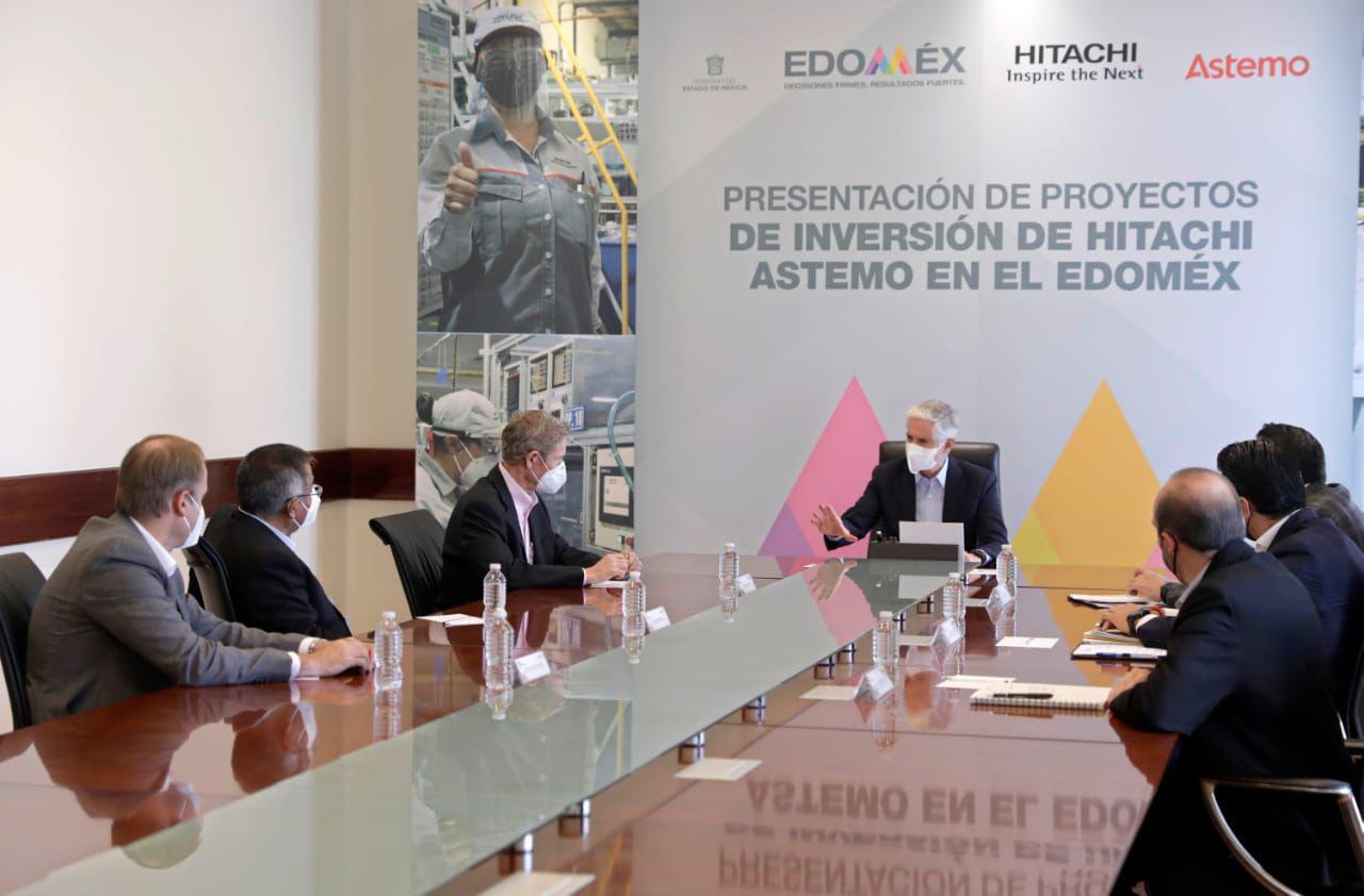 ANUNCIA ALFREDO DEL MAZO INVERSIÓN POR 56 MDD DE HITACHI EN LERMA